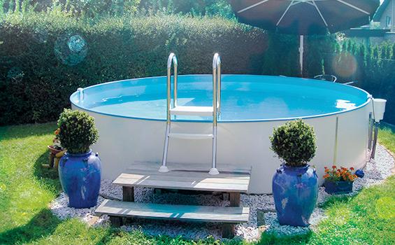 Stahlmantelbecken erdeinbau schwimmbad und saunen - Hobby pool technologies ...